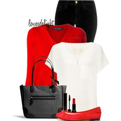 Red Accent, created by lovesdelight on Polyvore