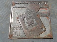 Avalon Cigarettes Printing Plate circa 1930 by MoonShineMetal, $30.00