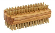 Redecker Natural Pig Bristle Nail Brush with Waxed Olive Wood Handle, Nail Brushes, Handle, Texture, Nails, Crafts, Amazon, Natural, Beauty, Nail Care