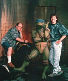Leo with Peter Laird and Kevin Eastman