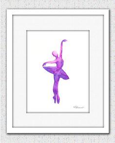 Purple Ballerina  Print from Original by FluidDiamondArt on Etsy, $12.00