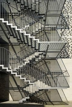 Kolumba Museum. Back-side exterior staircase. Photo by Yuri Palmin