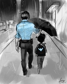 Who else misses Officer Grayson? I kinda wonder what he's as Dick nowadays. Batman Comic Art, Batman Comics, Batman Robin, Batman Batman, Batman Arkham, Batwoman, Nightwing, Batgirl, Tim Drake