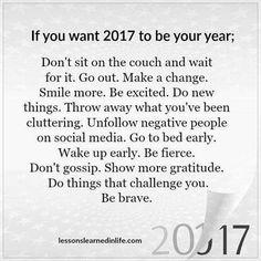 My 2017 goals! :)