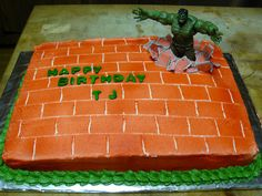 Hulk cake by candlecup, via Flickr