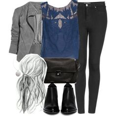 Allison Inspired Outfit with Requested Top by veterization on Polyvore featuring Free People, Topshop, Alexander Wang, MANGO, House of Harlow 1960 and Lot78 Teen Wolf Outfits, Edgy Outfits, Cool Outfits, Fashion Outfits, Fashion Ideas, Topshop Jeans, Sleeveless Crop Top, Skinny Fit Jeans, Well Dressed