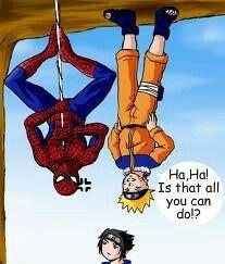 Naruto vs  Spidey