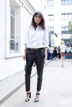 Monochrome Leather Pants