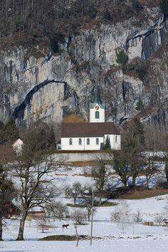 Reformierte Kirche Sennwald am Anna Göldi-Weg, in Sennwald, Kanton St. Gallen