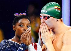 Simone Biles vs. Simonas Bilis. How can you tell the American ...  Throughout the Summer Olympics, everyone in these United States has been talking about Simone Biles. The world's greatest gymnast has already won one g . http://www.slate.com/blogs/five_ring_circus/2016/08/11/simone_biles_vs_simonas_bilis_how_can_you_tell_the_american_gymnast_and.html
