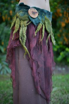 Nuno Felted Melted Tree Roots And Spiral Vines And by frixiegirl, $198.00