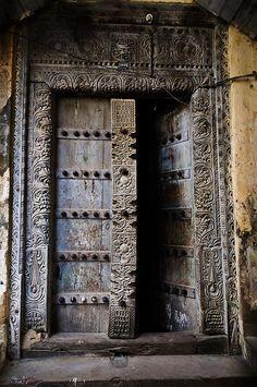 One of the famous doors of Zanzibar