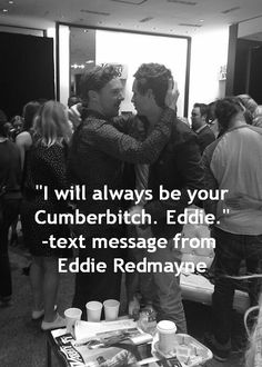 Eddie Redmayne text to Ben @margebjork @elisew