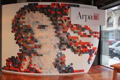 ARPA BARCELONA  Mona Lisa design with colored samples.