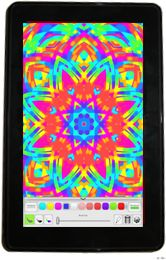 Super fun kaleidoscope painting doodle app.  I can't believe I can draw such a cool kaleidoscope.