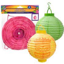 "Bulk Luau LED Paper Lanterns, 8"" at DollarTree.com"