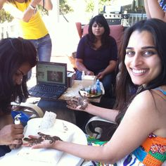 Divya doing her henna!