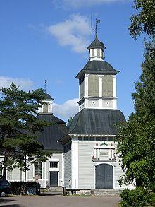 Church in Rantsila, Finland--I have family here! **small world** -- (the pin via Paivikki Kotaniemi - https://www.pinterest.com/pin/533184043357274621/ )