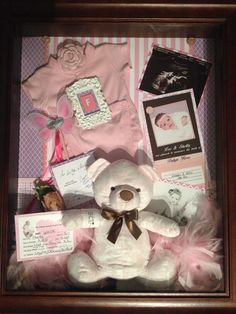 Custom order Baby Keepsake Shadow Boxes from Lovely Studio West Coast. Gift cards also available. Email mailto:leisa@lovelystudio.ca or facebook.com/lovelystudiowestcoast    baby boy girl keepsake shadowbox newborn collage birth announcement photos
