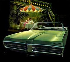 "danismm: ""1967 Pontiac Grand Prix Convertible Evening in Venice via here """