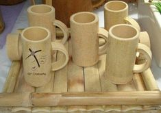 Bamboo box Vietnam - Round shape, great quality, various type. We can supply and making as custom demand. We have competive scoure bamboo and worker Bamboo Cups, Bamboo Art, Bamboo Crafts, Bamboo Garden, Wooden Projects, Wooden Crafts, Bamboo Roof, Bamboo House Design, Bamboo Structure