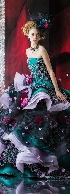 Stella de Libero layered gown fantasy fashion #UNIQUE_WOMENS_FASHION