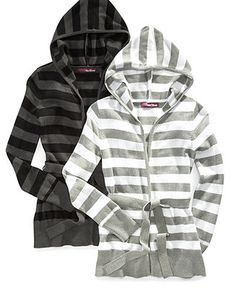 Epic Threads Kids Sweater, Girls Striped Hooded Cardigan - Kids - Macy's