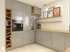 Dom w Opolu Kitchen Room Design, Kitchen Dinning, Kitchen Cabinet Design, Modern Kitchen Design, Living Room Kitchen, Home Decor Kitchen, Interior Design Kitchen, Kitchen Furniture, Home Kitchens