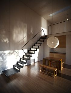 Stairs at Pangal Cabin, Casablanca, Chile by EMa Arquitectos