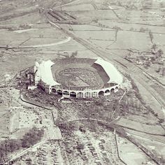 Aerial shot of 1923 FA Cup Final, Wembley - 'White Horse Final' - Bolton v West Ham