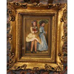 Piccolo dipinto olio su tavoletta firmato Damiani e realizzato nei primi del '900.