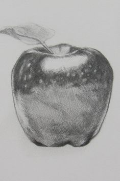 Drawing fruit in detail is great for filling up your sketchbook! Plus they look really impressive when draw all the little details. great drawing idea to keep your drawing skills up to par. #drawing #drawingfruit #drawingapples #fruit #apples #sketching #realisticdrawings #drawingideas #art #artists