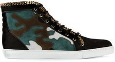 Louis Leeman Chain Trim Hi-Top Sneaker