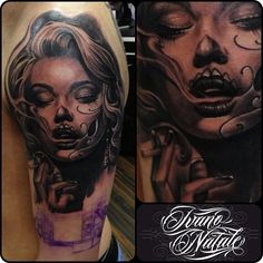 Latina girl tattoo design by Ivano Natale.