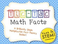 This print-and-go multiplication fact fluency builder is a perfect activity for early finishers and for extra moments in the classroom! Tic-Tac-Math is a simple fluency-building game that students play individually. Tic-Tac-Math is also a great resource for test prep - students who have practiced with the boards can quickly make a set on scratch paper or in their test book before major assessments to ensure accuracy in their problem-solving!