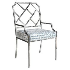 Check out this item at One Kings Lane! 1970s Chrome Fretwork Chair