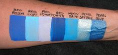 TAG color swatches by JestPaint.com Tag Face Paint, Blue Face Paint, Face Painting Colours, Face Painting Tips, Body Painting, Paint Swatches, Color Swatches, In Cosmetics, Halloween Disfraces