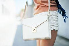 white purse.