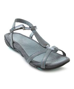 Take a look at this Charcoal Shasta T-Strap Sandal by J-41 Footwear on #zulily today!