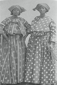 The koto or kotomisi is a traditional dress from the Afro-Surinamese women or Creoles in Suriname. The koto was developed during the slavery period in Suriname; its special purpose was to protect the Afro-Surinamese woman against their masters' sexual interest.