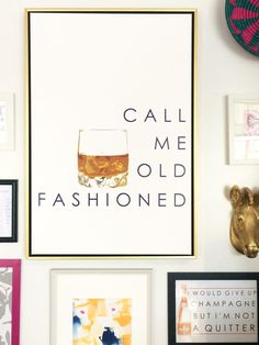 Call me Old Fashioned in a floating gold frame