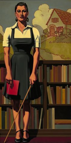 Bibliothec by Kenton Nelson, (born 1954) is an American painter and muralist from California.