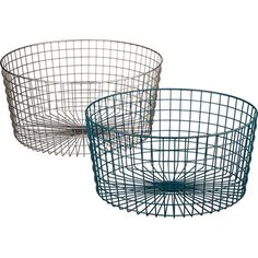 gridlock large raw industrial basket | CB2