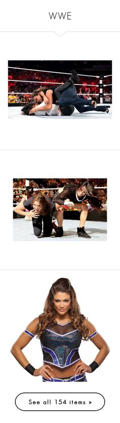"""""""WWE"""" by theonewithstarsinhereyes ❤ liked on Polyvore featuring wwe, carmella, home, home decor, superstars, naomi, arena, other, sami zayn and phrase"""