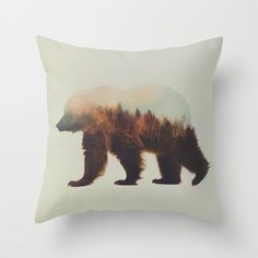 Norwegian Woods: The Brown Bear Throw Pillow