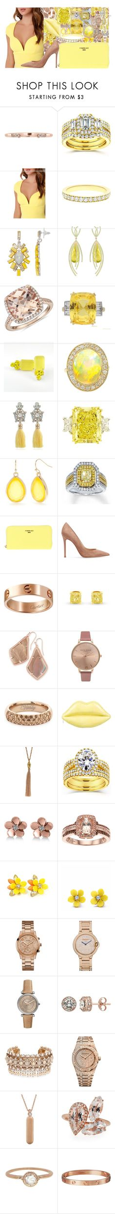 """Untitled #4843"" by brooke-evans12 ❤ liked on Polyvore featuring Kobelli, LULUS, Simply Vera, Arya Esha, Blue Nile, Caterina Mariani, New Directions, POMIKAKI, Gianvito Rossi and Cartier"