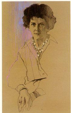 Bernie Fuchs portrait of Arpi Ermoyan, c.1999.