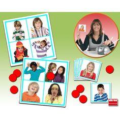 Bingo: sonido de las emociones, Juego de asociación para aprender a reconocer y diferenciar las emociones básicas asociando la imagen de cada emoción con su sonido correspondiente. Viene con guía pedagógica y CD con actividades para trabajar las emociones. Da los primeros pasos en las categorizaciones faciales de Ekman.  Desde 29,99€ Aspergers, Frame, Creative, Tea, Children With Autism, Special Needs Children, Activities For Kids, Social Skills, Picture Frame