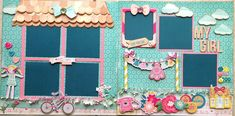 """This layout was designed to go with our doll """"Tuesday"""". Scrapbook Sketches, Scrapbook Pages, Scrapbooking, Scrapbook Layouts, Crate Paper, Tape Crafts, Crates, Kit, Crafting"""