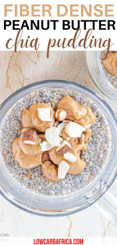 Fiber Dense Peanut Butter Chia Pudding. Breakfast is served. You have to try this tasty chia seed pudding for yourself. It's packed with healthy fats and creamy peanut butter. You'll crave this for breakfast every morning. Switch our your eggs or oats with this fantastic fiber dense peanut butter chia pudding. #chiaseedpudding #breakfastrecipes #peanutbutter Quiche Recipes, Waffle Recipes, Jam Recipes, Spicy Recipes, Gluten Free Recipes For Dinner, Gluten Free Desserts, Dairy Free Recipes, Low Carb Breakfast, Breakfast Recipes